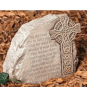 Celtic Cross on Garden Stone