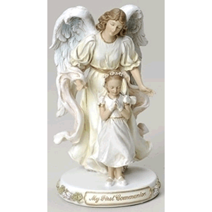 My First Communion Angel with Girl Statue