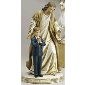 My First Communion Jesus with Boy Statue