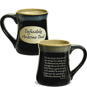 Definitely Awesome Dad Pottery Mug