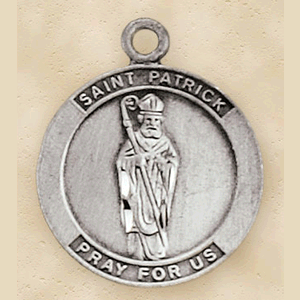 Pewter St. Patrick Medal With Chain