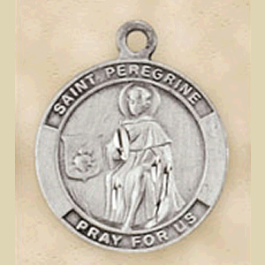 Pewter St. Peregrine Medal With Chain