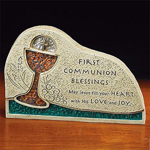 First Communion Blessings Sitter Plaque