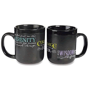 Serenity Prayer Mug Black