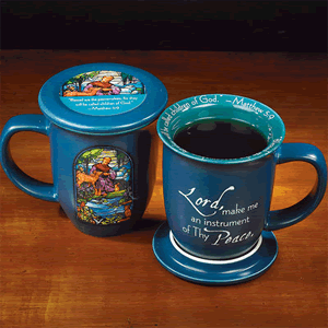 Lord, Make Me an Instrument of Thy Peace Mug & Coaster Set