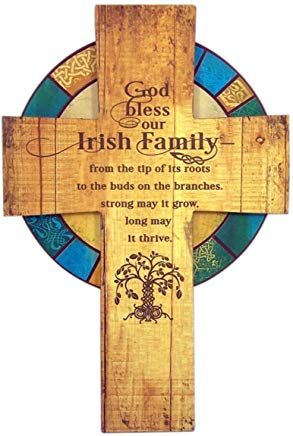 God Bless Our Irish Family Tree of Life Cross