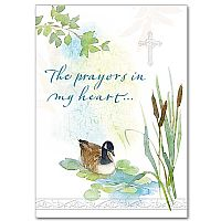 The Prayers in my Heart Sympathy Greeting Card