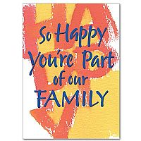 So Happy You're Part of Our Family Birthday Greeting Card
