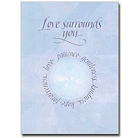 Love Surrounds You Encouragement Greeting Card