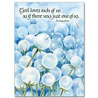 God Loves Each Of Us As If There Was Just One Of Us. - St. Augustine Birthday Greeting Card