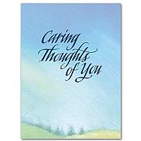 Caring Thoughts of You Encouragement Greeting Card