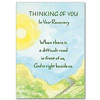 Thinking of You in Your Recovery Encouragement Greeting Card