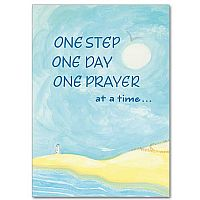 One Step, One Day, One Prayer at a Time Encouragement Greeting Card