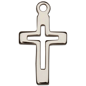 Sterling Silver Cut Out Pendant Cross