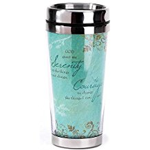 Serenity Prayer 16 Oz. Stainless Steel Insulated Travel Mug with Lid