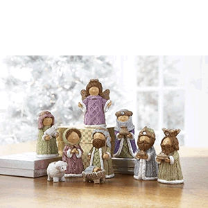 "Nativity 9 Piece 3.5""  Polystone"