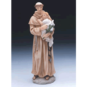 St. Anthony 9'' Resin Statue
