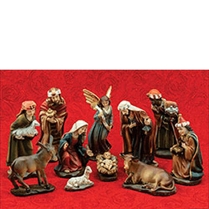 "Nativity Set Baroque 12 Piece 5.5"" Includes Stable"