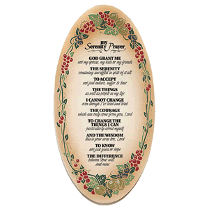 My Serenity Prayer Embossed Wood Plaque