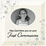 Glass First Communion Photo Frame With Easel Back