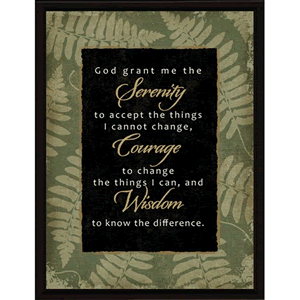 Serenity Prayer Framed Plaque
