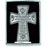 "First Holy Communion 3"" Standing Message Cross"