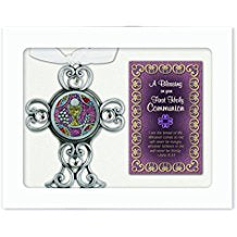 "4"" Holy Communion Cross and Holy Card Set"