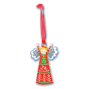 Joy to the World, Angel Ornament - Carol Eldridge