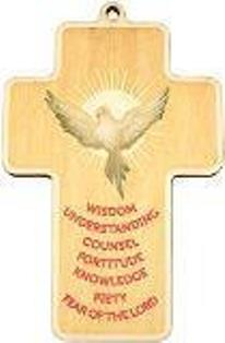 Confirmation Certificate with Laser Cut Holy Spirit Wood Cross