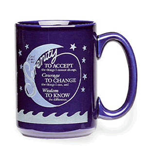 Serenity Prayer Mug Moon & Stars