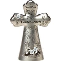Precious Moments First Communion Zinc Table Cross for Girls
