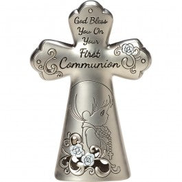 Precious Moments First Communion Zinc Table Cross for Boys