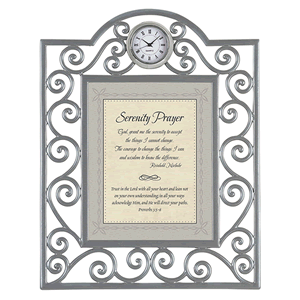Serenity Prayer  Framed with Table Clock