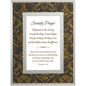 Serenity Prayer Plaque with Proverbs Scripture