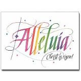 Alleluia Christ Is Risen ! Easter Greeting Card
