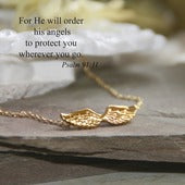 Angel Wings Goldtone Necklace