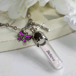 Believe, Message In A Bottle Necklace