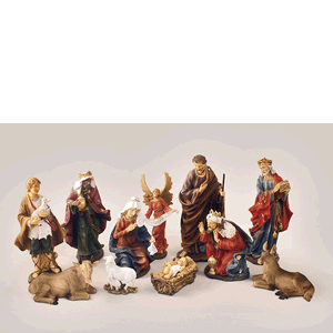 "Nativity 11 Piece Set 12"" Resin"
