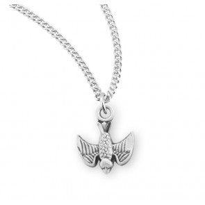 Holy Spirit Sterling Silver Pendant Necklace