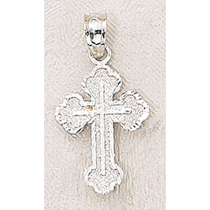 Sterling Silver Matte Finish Pendant Cross