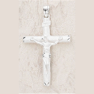 Sterling Silver Traditional Crucifix With Chain