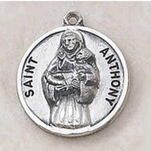 Sterling Silver St. Anthony Medal With Chain
