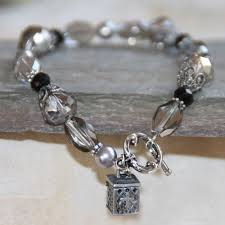 Crystal Beaded Prayer Box Bracelet