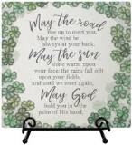 "Irish Blessing 6"" Ceramic Plaque with Easel"