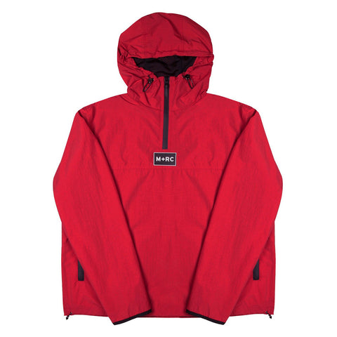RED LOOSE PULLOVER JACKET