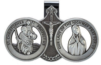 St. Christopher/ Virgin Mary Auto Visor Clip