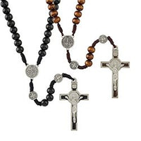 St. Benedict Cord Rosary (Black or Brown)