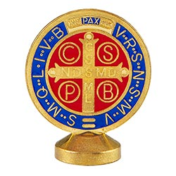 St. Benedict Standing Medal Gold