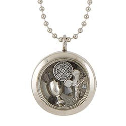St. Benedict Floating Locket Pendant