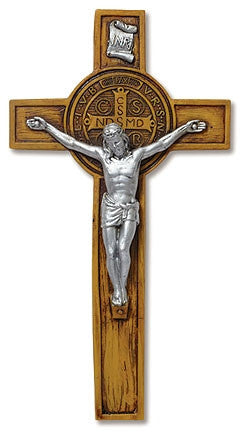 Woodtone St Benedict Wall Crucifix